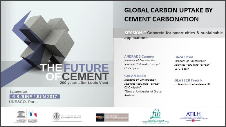 Around 43% of the co2 released in cement production is reabsorbed by carbonation