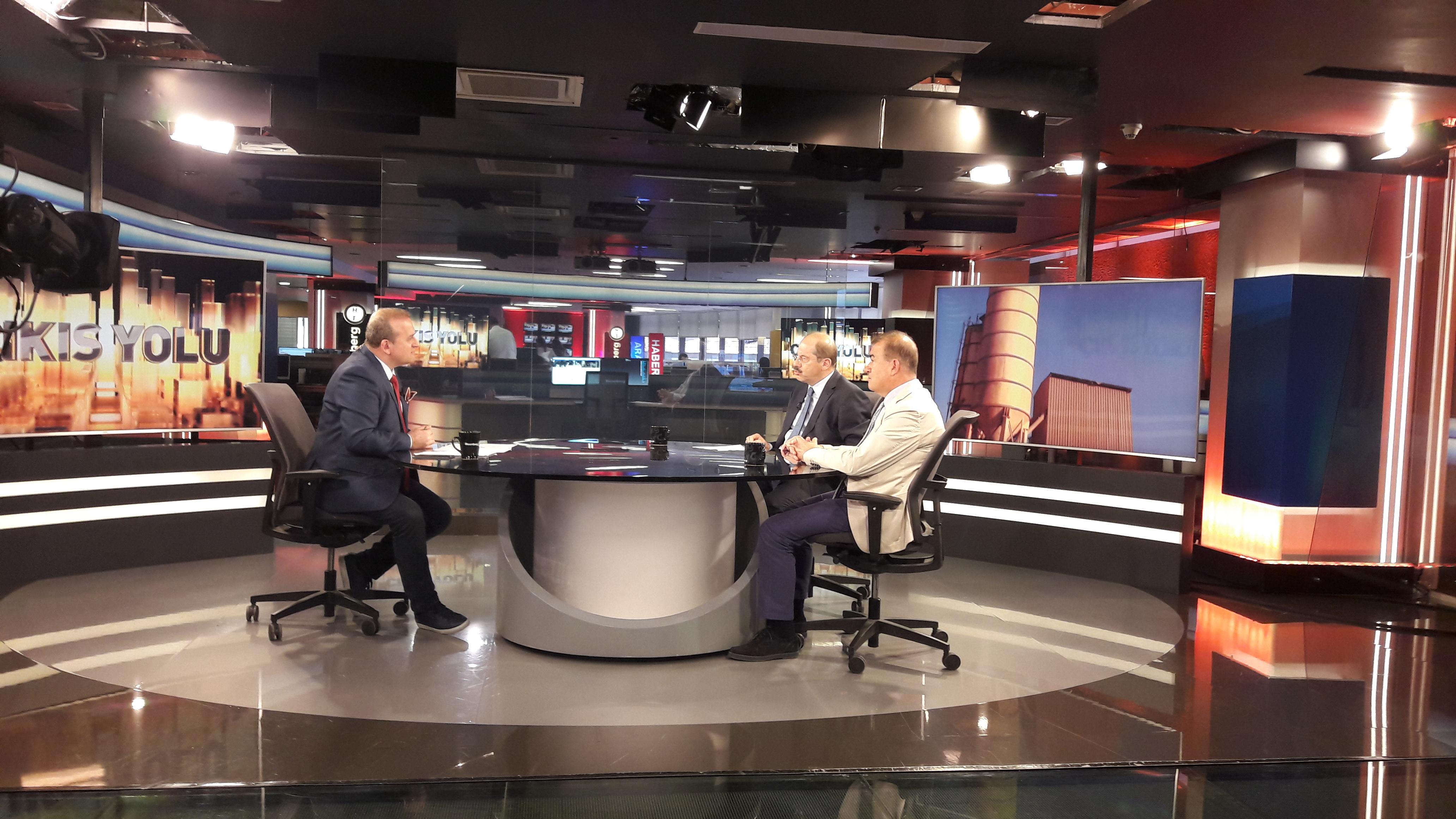 ERMCO President Yavuz Işık participated in the live broadcast of Bloomberg HT